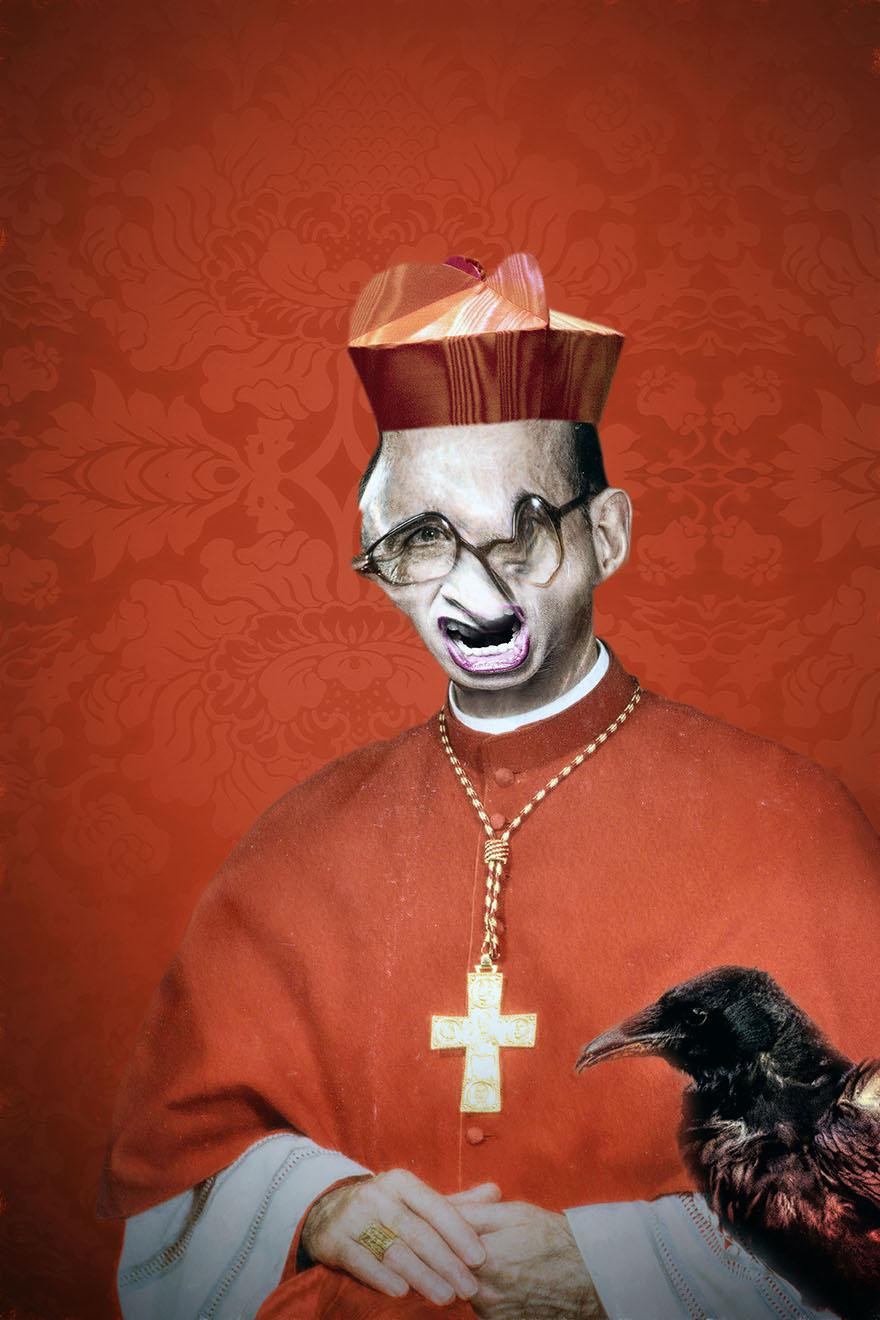 Portraits avec corbeau - Le cardinal