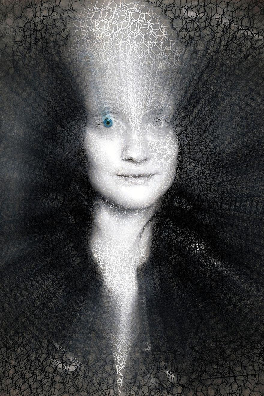 Portrait a l'oeil de verre